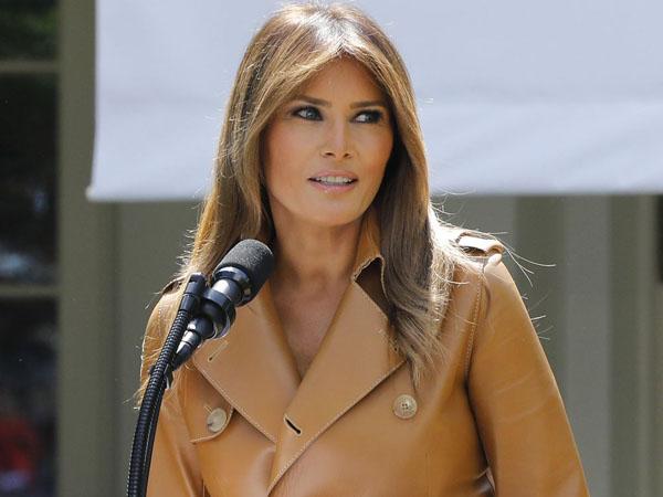 Bà Melania phát biểu khi phát động chiến dịch Be Best tuần trước tại Nhà Trắng. Ảnh: Bloomberg.
