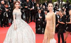 Quỳnh Hương đeo phụ kiện 30 tỷ, Vũ Ngọc Anh mặc sexy ở Cannes