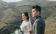 Lâm Vũ và vợ hoa hậu chịu lạnh 3 độ C để chụp ảnh cưới ở Sapa