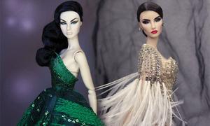 Váy cho búp bê đẹp không thua kém đồ dạ tiệc của sao Việt