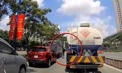 Tài xế xe tải chặn đầu, hành hung lái xe bồn giữa đường