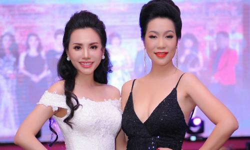 Hoa hậu Châu Ngọc Bích đọ sắc bên Trịnh Kim Chi tại sự kiện