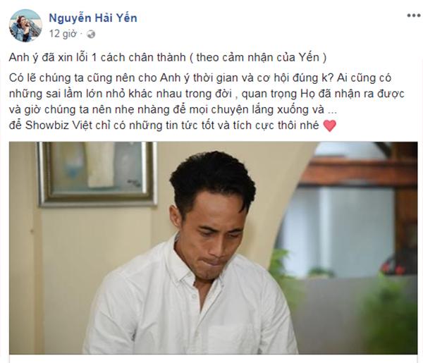 Ca sĩ Hải Yến mong mọi người cho Phạm Anh Khoa cơ hội để sửa sai.