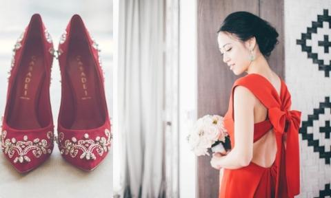 Cách đưa sắc đỏ vào đám cưới, không chỉ đẹp mà còn hút may mắn