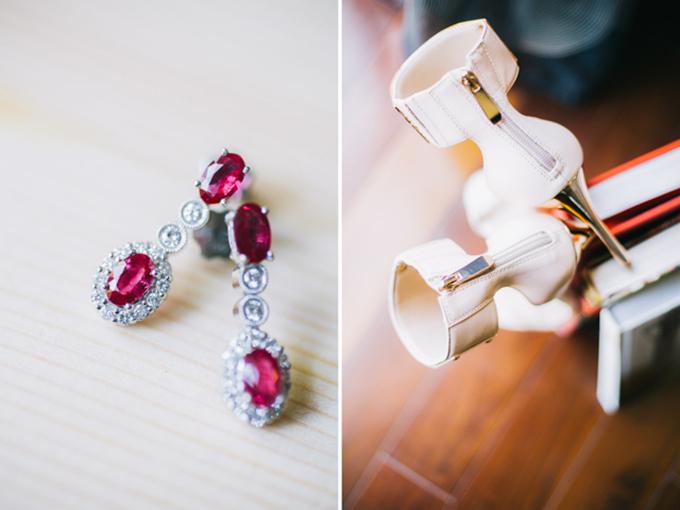 Trang sức bằng hồng ngọc sẽ khiến diện mạo của cô dâu thêm lung linh.