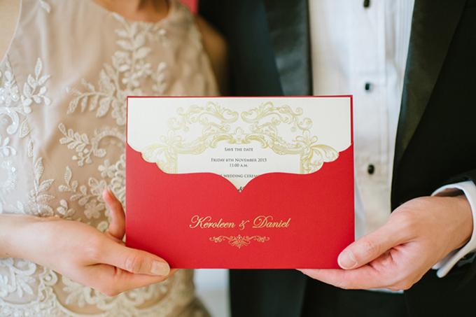 Tấm thiệp đỏ tươi gửi gắm ý nghĩa về một cuộc sống hạnh phúc sau nàycủa lứa đôi.