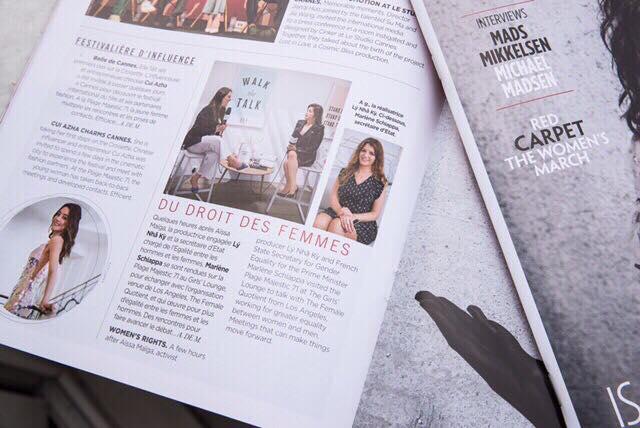 Hình ảnh và một phần thông tin về talkshow của Lý Nhã Kỳ được giới thiệu trên tạp chí.