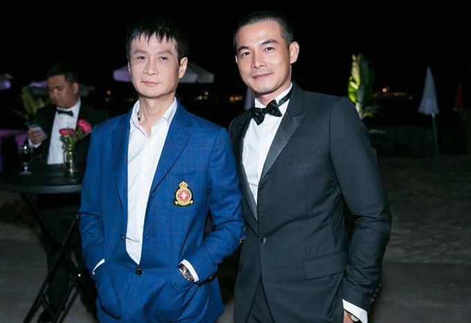 Đạo diễn Lê Hoàng lịch lãm bên diễn viên Quách Ngọc Ngoan.
