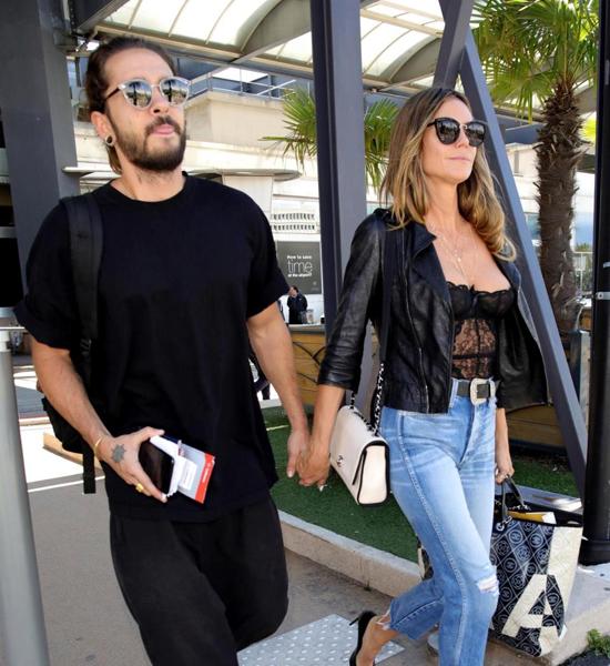Cặp sao chỉ vừa công khai hẹn hò vào tháng tư năm nay khi Tom đến thăm Heidi ở trường quay Americans Got Talent. Tom Kaulitz, 28 tuổi, là guitar của nhóm nhạc Tokio Hotel.