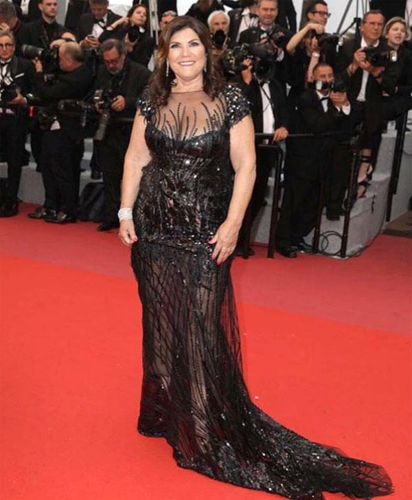 Bà Dolores Aveiro trên thảm đỏ Cannes. Ảnh: NS.