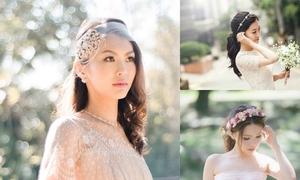 Phụ kiện cài tóc yêu kiều cho cô dâu tóc dài