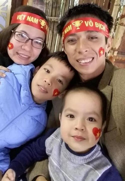 Chị Như Quỳnh bên chồng và hai con.
