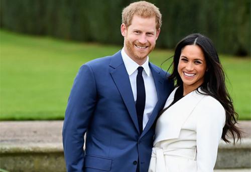 Hoàng tử Harry và hôn thê ngườiMỹ. Ảnh:WireImage.