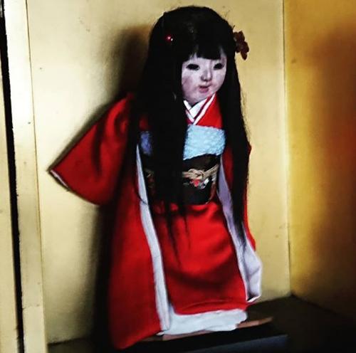Nhiều người đã kéo đến đềnMannenji để nhìn ngắm búp bê Okiku nhưng không được phép chụp ảnh cùng nó. Ảnh: Instagram.