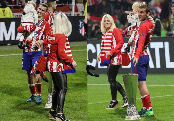 Griezmann lập cú đúp cùng với bàn thắng của đồng đội Gabi mang về chiến thắng 3-0 cho Atletico.