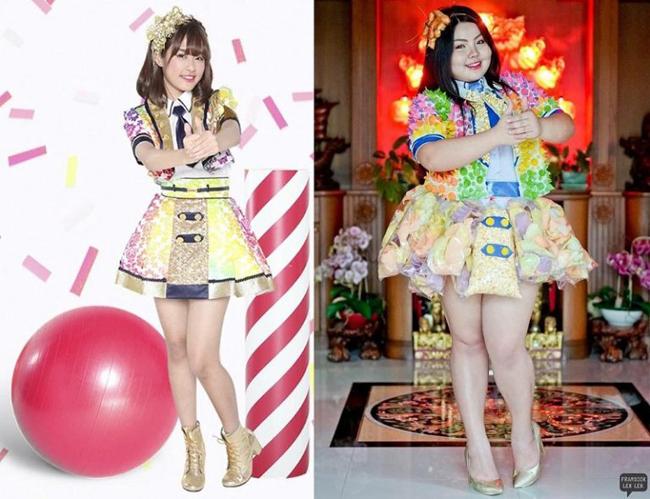 Cô gái mê ăn người Thái cosplay thành người nổi tiếng - 4