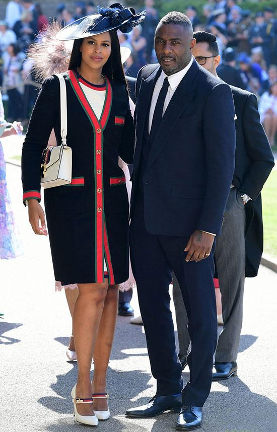 Tài tử Idris Elba sánh đôi với vị hôn thê, người mẫu Sabrina Dhowre.