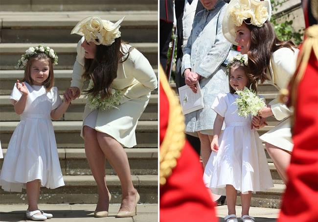 Charlotte cùng mẹ chuẩn bị vào lễ đường dự đám cưới chú ruột.