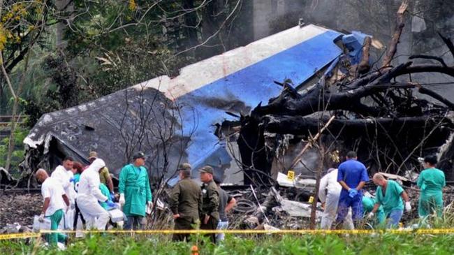 Nhân chứng nghe thấy tiếng động lớn trước khi máy bay ở Cuba rơi