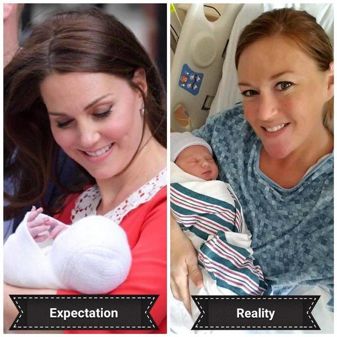 Nhưng đôi khi, lớp trang điểm từ trước khi sinh vẫn chưa sạch hết nên khuôn mặt của các bà mẹ sau khi có phần lem nhem.