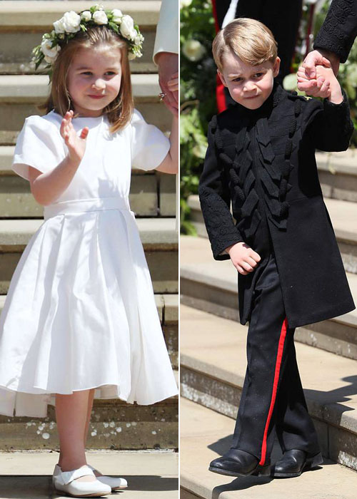 Charlotte và anh trai khiến người hâm mộ tan chảy bởi vẻ đáng yêu trong vai trò phù dâu, phù rể nhí cho chú Harry.