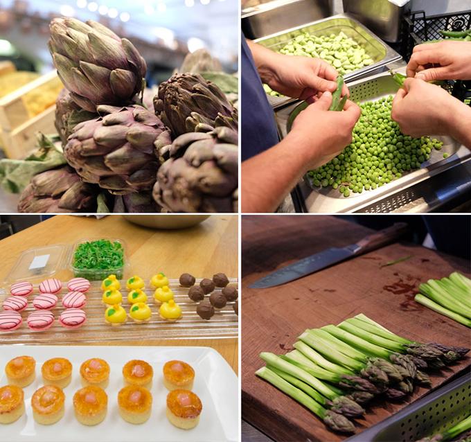 Các món ăn được chuẩn bị từ nhiều ngày trước. Các nguyên liệu được vận chuyển từ nhiều vùng thuộc Anh.