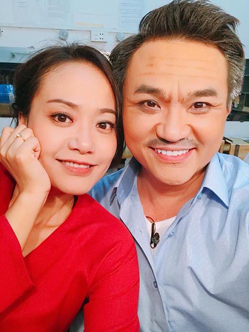 Hồng Ánh và Đại Nghĩa tái ngộ tại sân khấu kịch với vai diễn ông già bà cả.