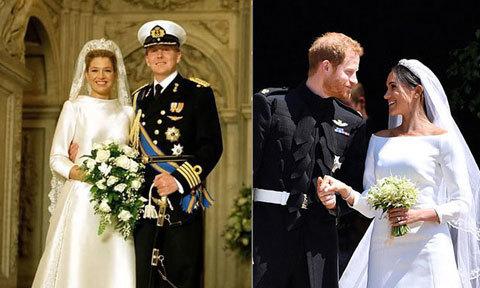 Thời trang ngày cưới của Meghan gợi nhớ tới một 'cô dâu hoàng gia' khác