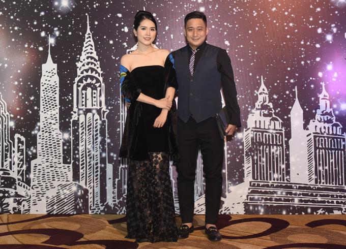 Vợ chồng Minh Tiệp làm khách mời trong chương trình Amcham Gala 2018 - sự kiện thường niên đánh dấu quan hệ hợp tác thương mại giữa Việt Nam và Hoa Kỳ.