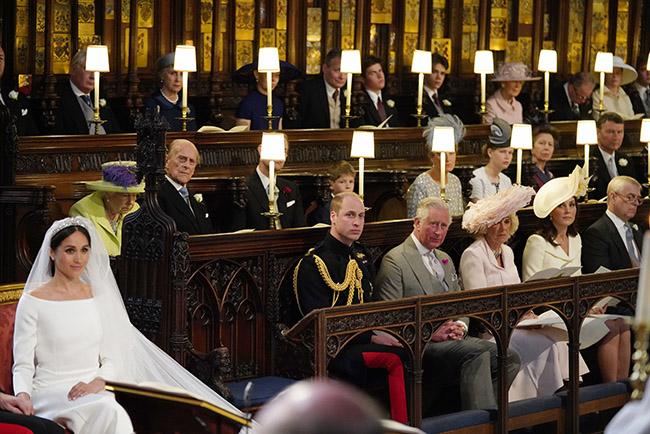 Chiếc ghế bỏ trống bên cạnh Hoàng tử William được cho là vị trí ngồi của cố Công nương Diana. Ảnh: PA.