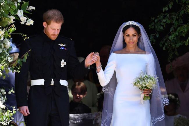 Đám cưới cổ tích của nàng lọ lem người Mỹ và Hoàng tử Anh hôm 19/5. Ảnh: Delish.