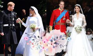 Đo độ 'khủng' giữa hai đám cưới của Hoàng tử Harry và William