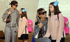 Suri Cruise đi học bằng tàu điện ngầm
