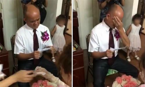 """Bức thư """"đẫm nước mắt"""" của ông bố Đài Loan gửi con rể trong đám cưới"""