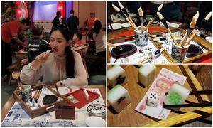 Món 'bút lông và cờ mạt chược' đặc biệt ở Trung Quốc