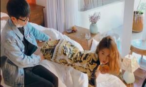 Ngọc Trinh tung video hậu trường chụp ảnh