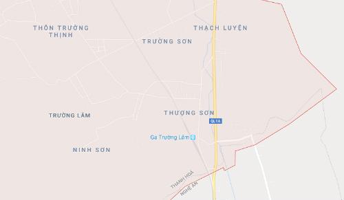 Vị trí nơi xảy ra tai nạn gần ga Trường Lâm.