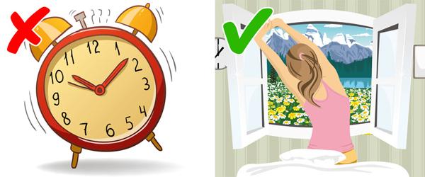 Đặt báo thức quá muộn Đặt báo thức quá muộn vào sáng hôm sau cũng là điều không nên làm. Bạn nên thức dậy sớm, vận động nhẹ và ăn sáng đầy đủ để kiểm soát cân nặng dễ dàng hơn.