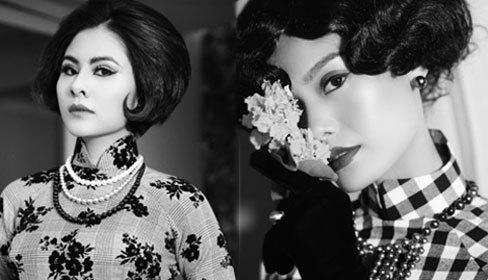 Áo dài mang âm hưởng thời trang châu Âu thập niên 60