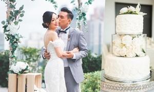 Uyên ương gây ấn tượng với đám cưới rustic màu trắng