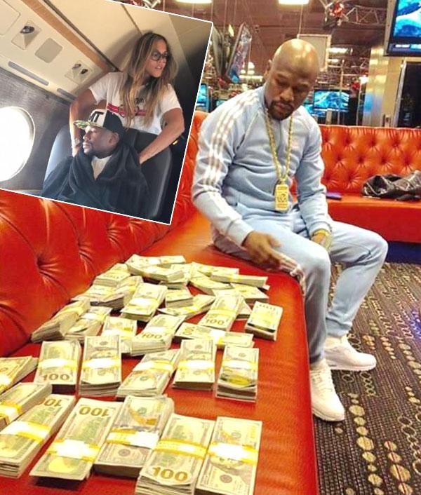 Mayweather có sở thích khoe tiền. Ảnh: NN.