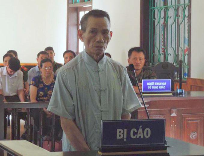 Bị cáo Nhân tại tòa. Ảnh: Hùng Lê