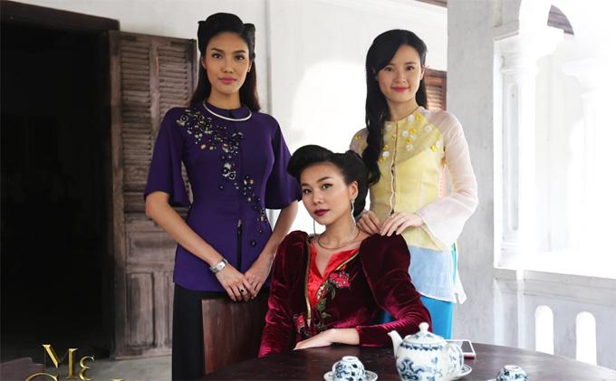 Thanh Hằng, Lan Khuê, Midu thủ vai 3 nàng dâu trong phim Mẹ chồng.