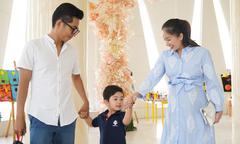 Khánh Thi bụng bầu 8 tháng dự lế bế giảng của con trai