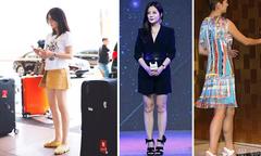 Triệu Vy bị 'bóc mẽ' vì đôi chân thẳng tắp nhờ Photoshop