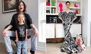 Coco Rocha mê diện đồ đôi cùng con gái