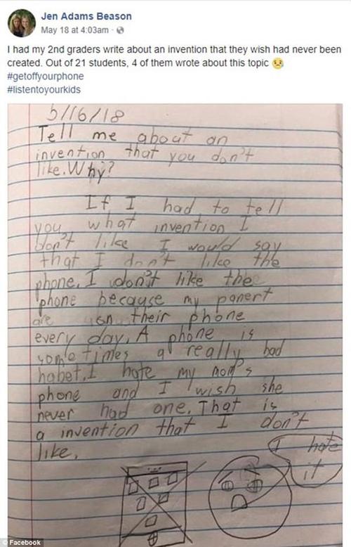 Bài viết của học sinh lớp 2 khiến nhiều người suy ngẫm.