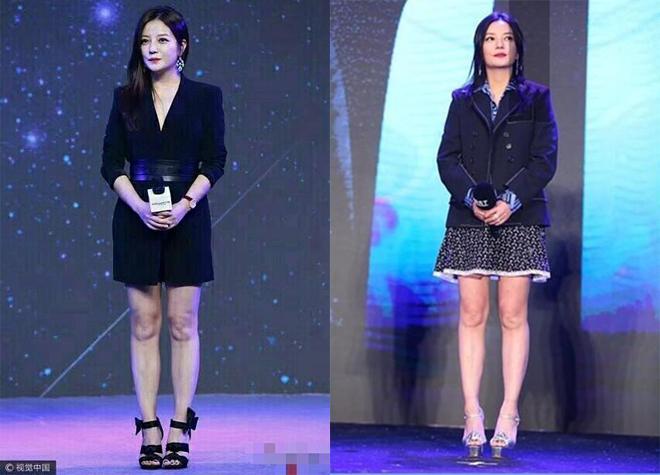 TờIfengcòn đưa ra nhiều hình ảnh để phần nào khẳng định, chân Triệu Vy khác so với đôi chân người mẫu kia.