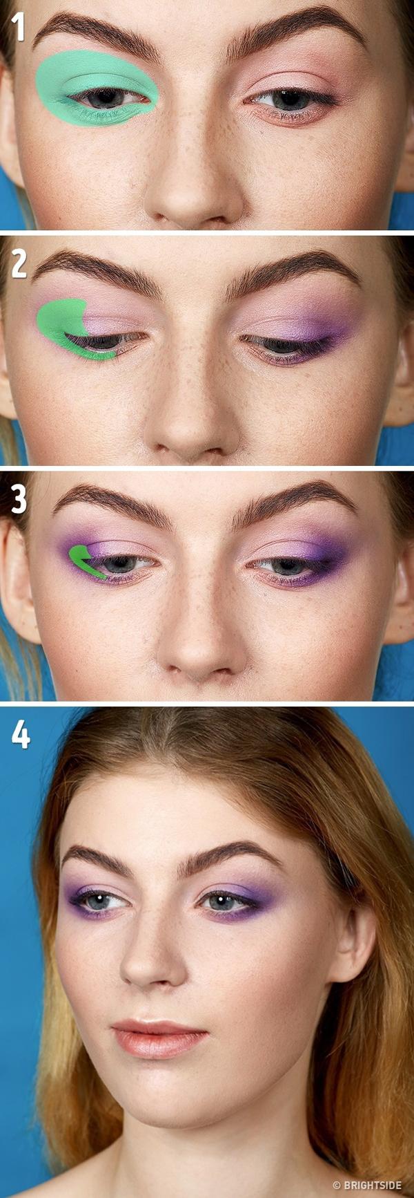 Kỹ thuật trang điểm mắt theo chiều dọc Kiểu vẽ mắt này giúp đôi mắt trông to và sáng hơn, phù hợp với những nàng có đôi mắt nhỏ hay mắt một mí.