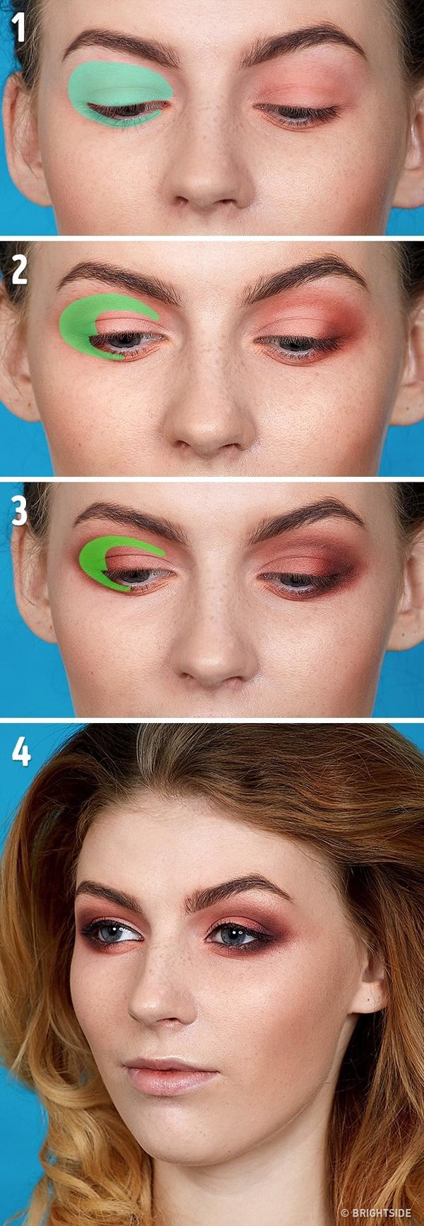 Kỹ thuật trang điểm mắt cổ điển Đây là kiểu vẽ mắt pha trộn giữa hai trường phái trang điểm mắt theo chiều ngang và dọc.